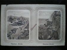 POSTCARD DEVON ILFRACOMBE - CAPSTONE PARADE - 1910'S 2 VIEWS EMBOSSED