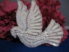 CHRISTMAS DOVE SEQUIN BEADED APPLIQUE 2246-K