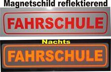 Magnetschild Fahrschulschild reflektierend Fahrschule 35 x 8 cm