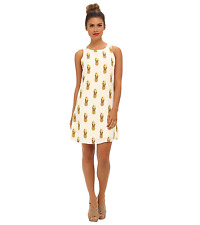 PIPERLIME TOWNSEN PINEAPPLE 100% SILK DRESS SZ SMALL SOLDOUT ORG $242 S/D185PAS