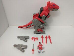 Imaginext Power Rangers RED RANGER & T-REX ZORD Jason sword cannons missiles