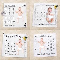 Newborn Baby Girls Boy Infants Milestone Blanket Mat Photography Photo Props LOT