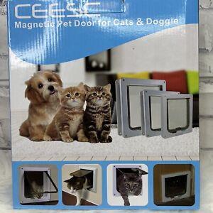 4 Way Pet Cat Puppy Dog Magnetic Lock Lockable Safe Flap Door Gate Frame XL