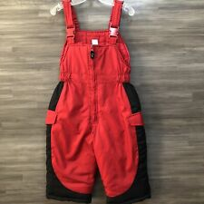 Baby boys size 24 Months Carter's red & black overall bibs snowsuit snow suit