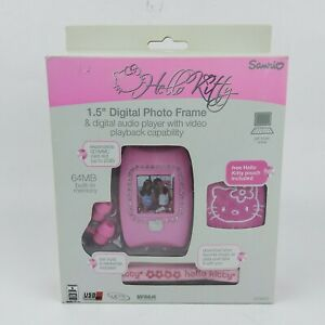"""Hello Kitty 1.5"""" Digital Photo Frame MP3 Audio Player with Video Playback"""
