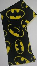 "BATMAN FLEECE SCARF -SOFT-HANDMADE- 8"" WIDE x 60"" LONG"