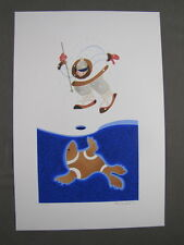 Rie Munoz Signed/Numbered Limited Edition Serigraph - Seal Hunter 172/500 COA