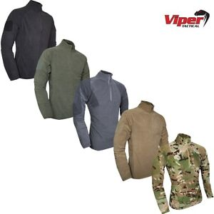 CLEARANCE VIPER ELITE MID-LAYER FLEECE MENS S-2XL THERMAL ZIP NECK PULLOVER ARMY