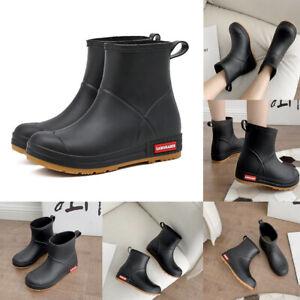 Wellington Rain Boots Waterproof Ankle Wellies Men Women Outdoor Shoes  Size 5-9