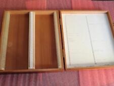 100 Microscope Slide Storage Box Cedar Wood Divider 1X3 Clay-Adams A-1600/XW N35