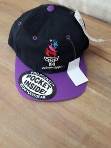 NWT Vintage 1996 Atlanta Olympics Snapback Hat Cap USA LOGO 7 Stow Pocket