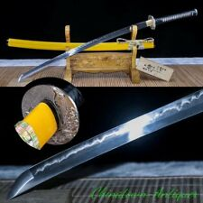 Japanese Sabre Full Tang Samurai Sword Katana T10 Steel Clay Tempered Sharp#2536