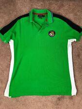Polo Ralph Lauren Cookie Patch Polo Shirt Zip Neck  Green Patch Emblem Size L