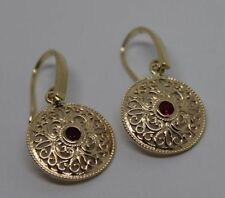 Hook Ruby Yellow Gold Fine Earrings
