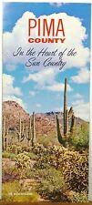 1960's Pima County Arizona vintage promotional brochure & map Tucson b