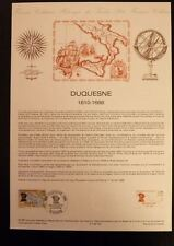 FRANCE MUSEE POSTAL FDC 05-88    DUQUESNE     2+0,50F   DIEPPE  1988