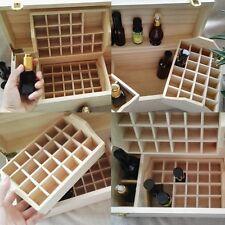 Large 5ml~100ml 49 Slots Essential Oil Bottles Wooden Box 2 Drawer Storage Case
