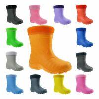 Kids Boys Girls Wellies Wellington Boots Rainy Boots ULTRALIGHT size UK 5-2.5