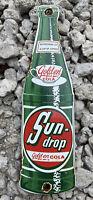 Sun Drop soda Vintage Porcelain Metal Sign Coca Cola Beverage Gas Station Drink