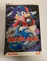 Beyblade Vol. 1 Action Takao Aoki 2005 Paperback Manga Graphic Novel Comic OOP