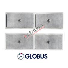 GLOBUS 4 ELETTRODI GRANDI Elettrostimolatore UNIVERSALI a BOTTONE - CLIP 5x10cm