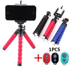 Mini Flexible Tripod Stand +Phone Holder + Remote Control For iPhone Cell Phone&