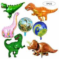 7pcs Giant Foil Dinosaur Balloon Jurassic T-Rex Balloon Bouquet Decorations