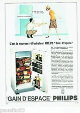 PUBLICITE ADVERTISING 116  1965  Philips  réfrigerateur frigidaire Grand Espace