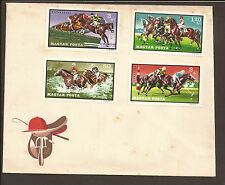 Hungary 1971 Cover. Horse racing