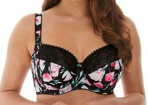 Fantasie Frances Black Floral Underwired Side Support Bra FL6852