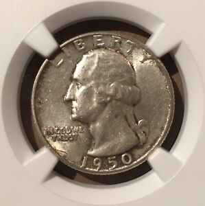 USA 1950 25 Cents NGC MS 62 - Washington Quarter - Silver