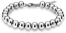 Sterling Silver 4MM-10M Italian Bead Ball Chain Bracelet- Handmade Bead Italian