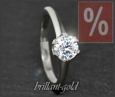 Diamant 585 Gold Damen Ring, Brillant mit 0,94ct, River D, Si; 14 Karat Weißgold