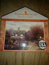Puzzle Thomas Kinkade Open Gate Sussex 1000 Piece Painter Of Light