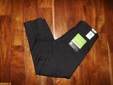NWT Mens HAGGAR Black Straight Performance Comfort Casual Pants 34 X 32