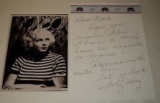 TOBY WING /  HANDWRITTEN  NOTE  WITH  5 x 7  PHOTO