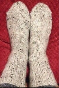 Hand knitted bed or boot socks 5-7