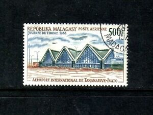 Malagasy Republic 1968 Stamp Day/ Airport single-value set (SG 141) used