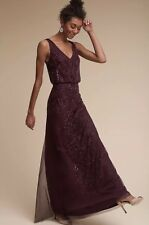 NEW $280 Aubrey Beaded Dress Gown by Adrianna Papell Size 4