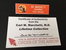 1981 National Jamboree Chairman Youth Services Nametag Carl Marchetti Collection
