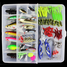 101x Trout Bass Fischen Lockt Crankbaits Set Kit Soft & Hard Köder Haken mit Box