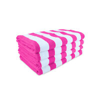Cabana Beach Towels Packs of 4 - Striped Color Options - Cotton 30 x 60 Durable