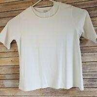 Duluth Trading Co Women's Sz XXL White 3/4 sleeve 100% Cotton