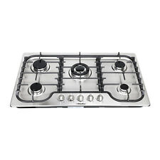 34 inch kitchen Stainless Steel Built-in 5 Burner Gas Hob/Cooktop