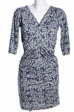 TWIN-SET SIMONA BARBIERI Wickelkleid abstraktes Muster Casual-Look Damen blau