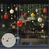 Christmas Window Stickers Elk Decal Snowflake Xmas Home Diy Decor Wall Santa