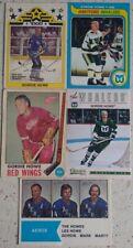 GORDIE HOWE 5 VINTAGE NHL SPORTS CARD LOT 1969 O-PEE-CHEE 1977 OPC 1979 TOPPS