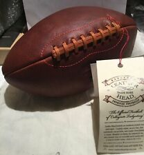 Leather Head Football Handsome Dan With tag And bag . New