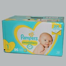 Pampers Swaddlers Diapers 2X Softer 96 Count Size 1 8-14 Pounds