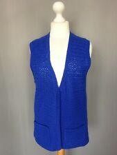 Gilet femme en laine bleu vintage Parfait état Taille FR42 US10 UK14